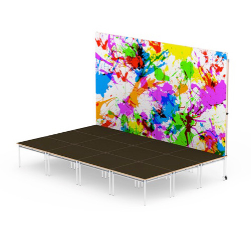 we provide customised backdrops for school staging